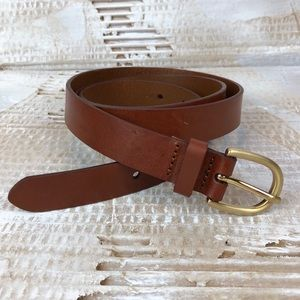 Lands End classic brown leather belt size XL 18/20